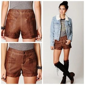 NWT free people vegan leather shorts
